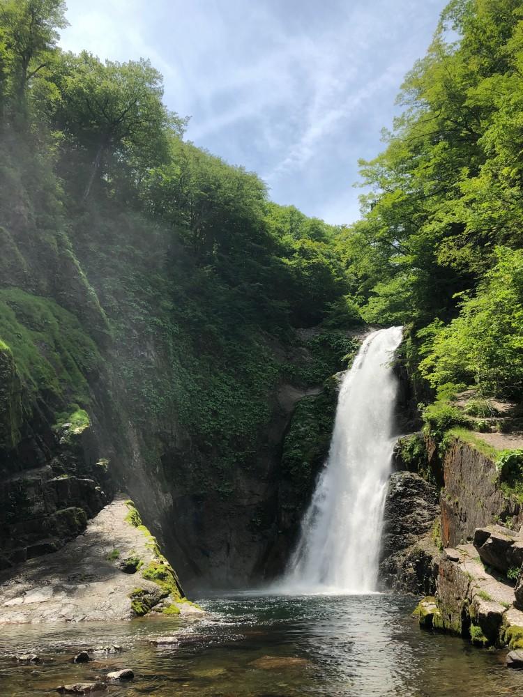 秋保大滝 - 日本糖尿病学会(仙台)で訪れたマイナスイオンいっぱいの秋保大滝。日本三大名瀑の1つらしい(那智の滝・華厳の滝) -  -